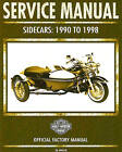 1990 TO 1998 HARLEY-DAVIDSON SIDECAR SERVICE MANUAL -NEW-TLE-RLE-TLR-SIDECARS