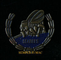 US NAVY SEABEES WREATH HAT PIN USS USN FIGHTING SEA BEES WE BUILD FIGHT GIFT WOW
