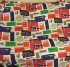 Vtg 1992 JURASSIC PARK Flat Bed Sheet ONLY Twin Size DINOSAURS T Rex Fabric