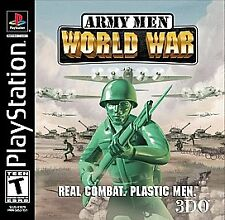 Army Men : World War - PS1 Playstation 1 game Disc Only T Armymen Ex-Rental 3DO