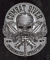 COMBAT DIVER PATCH US NAVY VETERAN SEAL TEAM 3 UDT USS MARK KNI PIN UP KNIFE WOW