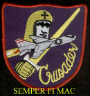 F-8 CRUSADER PATCH USS NAS MCAS NAF US NAVY MARINES PIN UP CAG MAW WING GIFT WOW