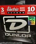 STRINGS ELECTRIC 3 SETS PACK DUNLOP 10-46 Medium @ Carlingford Music 02 98732333