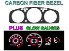 92-95 HONDA CIVIC MANUAL TACH CARBON FIBER BEZEL + RED GLOW GAUGE FACE OVERLAY