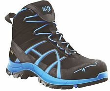 Haix Black Eagle Safety 40 Mid Blue Gore-Tex Waterproof Work Trainer Shoe New