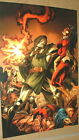 Fantastic Four Dr Doom Vs Spider-woman Avengers Marvel Comics Poster