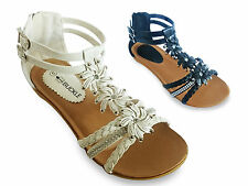 NEW SUMMER ANKLE STRAP SANDALS IN WHITE OR BLACK | UK SIZES 3-8