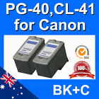 3x Ink Cartridges For Canon PG 40 CL 41 MP460 MP470 iP2200 iP2500 iP2600 iP2750