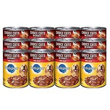 PEDIGREE CHOICE CUTS in Gravy With Beef Canned Dog Food 22 Ounces Pack of 12