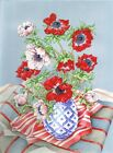 Still Life Anemones Original Watercolour Painting Patti Pearce Sale Reduced