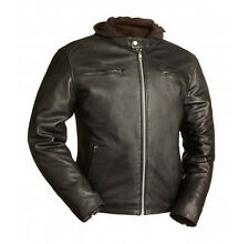 First MFG Leather Motorcycle Jacket with Removable Hoodie. FIM248CCBZ