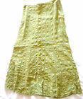Per Una M&S Marks & Spencer Dark Lime Green maxi flared lined skirt size 16 vgc