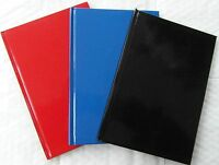 A4 A5 A6 RULED LINED HARDBACK NOTEBOOK NOTE BOOK HARD BACK NOTEPAD PAD