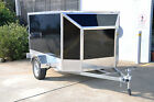 ENCLOSED ALUMINUM BIKE TRAILER with LIFT UP LID & RAMP EXTRA LIGHTWEIGHT