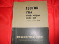 Ruston and Hornsby spares manual.YBA