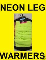 UV NEON YELLOW LEG WARMERS ONE SIZE CLUBBING RAVE PARTY