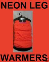 UV NEON ORANGE LEG WARMERS ONE SIZE CLUBBING RAVE PARTY