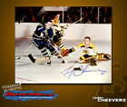 Gerry Cheevers SIGNED Boston Bruins 8X10 Photo -70108