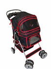 New BestPet Large Black 4 Wheels Pet Dog Cat Stroller w/RainCover Pet House