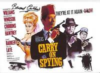 CARRY ON SPYING in person signed 12x8 BERNARD CRIBBINS