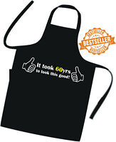 60th BIRTHDAY Apron EXCELLENT GIFT IDEA Cooks / Chefs BBQ Cook Apron