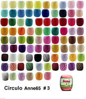 7 x 65m ANNE 65 Crochet Cotton Knitting Thread Yarn #3 e-mail me Colour Codes