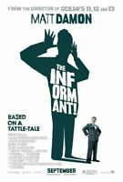 THE INFORMANT! MATT DAMON REG D/S ORIGINAL MOVIE POSTER