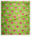 3/8 PINK LIME HEARTS VALENTINE BOW GROSGRAIN RIBBON 5YD