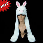 Cartoon Animal Rabbit Cute Fluffy Plush Hat Cap Costume