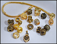 European Style Charm Bead Set with Bracelet - Gold Mix  FREE SHIPPING!