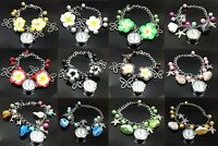 Lady Jewelry Beads Flower Bracelet Watch Christmas Gift