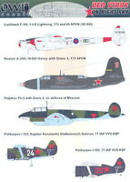 Owl Decals 1/48 RED STARS ON NIGHT SKY Russian Night Fighters