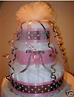 L@@K...Precious Diaper Cake for a Girl - Baby Shower