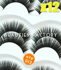12 Pairs NATURAL False Eyelashes Fake Eye Lashes Human Hair Lash (Style #2) 478B