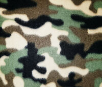 60 Inch Width Camo Polar Fleece, Material,Fabric,Soft And Washable
