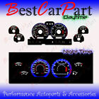 BLACK 94-98 Ford Mustang GT INDIGLO GLOW BLUE/WHITE EL REVERSE GAUGES