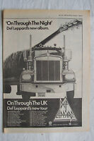1980 - DEF LEPPARD - On Through The Night + UK Tour Dates - Press Advert Poster