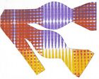 (1) SELF-TIE BOW TIE- PLAID IMPRESSIONS - PURPLE, ORANGE, YELLOW & WHITE