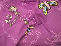 Groovy Chick Butterfly Soft Cotton Fabric - 150cm Wide - Off the Roll