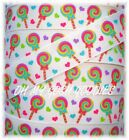 7/8 LOLLIPOP LOVE MULTI BRIGHT HEART CANDY SHOPPE GROSGRAIN RIBBON 4 HAIRBOW BOW