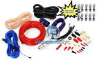 pkg 10 FUSES & PD-4KIT AMP CABLES 4 AWG WIRE 2500W CAR AMPLIFIER RCA INSTALL KIT