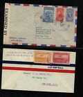 Costa Rica 2 airmail covers, one censor AT0530