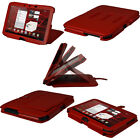 "Red Leather Case Cover for Motorola Xoom 2 Droid Xyboard 10.1"" Android Tablet"