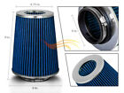 "4 Inches 102 mm Cold Air Intake Cone Truck Long Filter 4"" NEW BLUE Jeep"