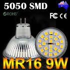MR16 9W 5050 24 SMD LED Light Warm White Bulb Downlight SpotLight Globe Lamp 12V