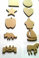 6mm thick mdf wood shapes (blanks) ideal for a range of craft uses