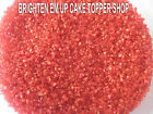 EDIBLE SUGAR SAND CAKE CUPCAKE TOPPERS SPRINKLES 50GM RED