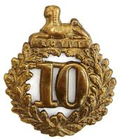 VICTORIAN 10TH LINCOLNSHIRE GLENGARRY BADGE