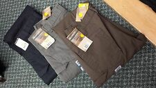 Carhartt Men's Cotton Ripstop Double Front Pants in Black or Moss Colors