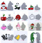 Free Postage 10x Mixed Styles Charms Silver Tone Alloy Pendants Finddings